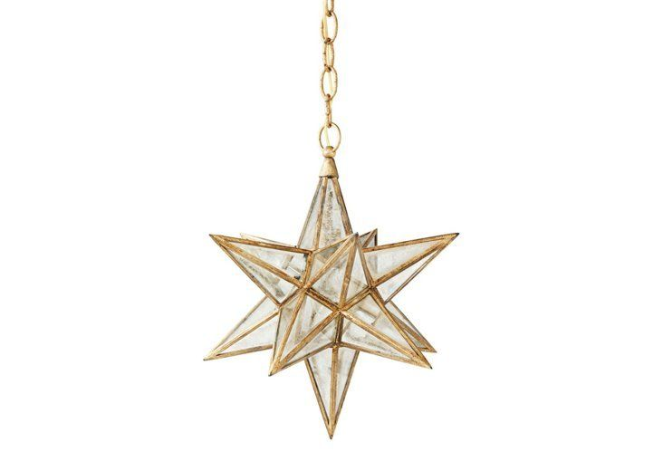 Gold Moravian Star Pendant Light Fixture By Serena Lily