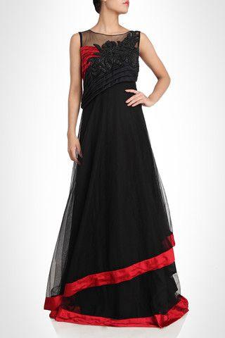 Black Color Designer Gown Beautiful Dresses Designer Gowns Fashion