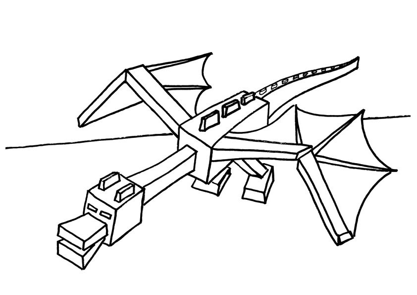 Minecraft Coloring Pages Minecraft Coloring Pages Dragon
