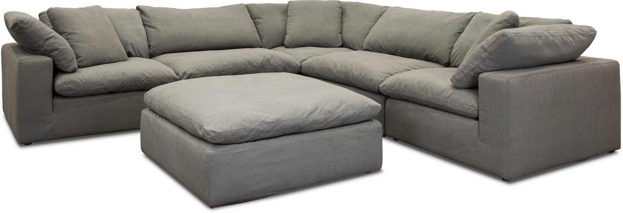 Slate Gray 5 Piece Sectional Sofa Peyton Sectional Sofa Sofa