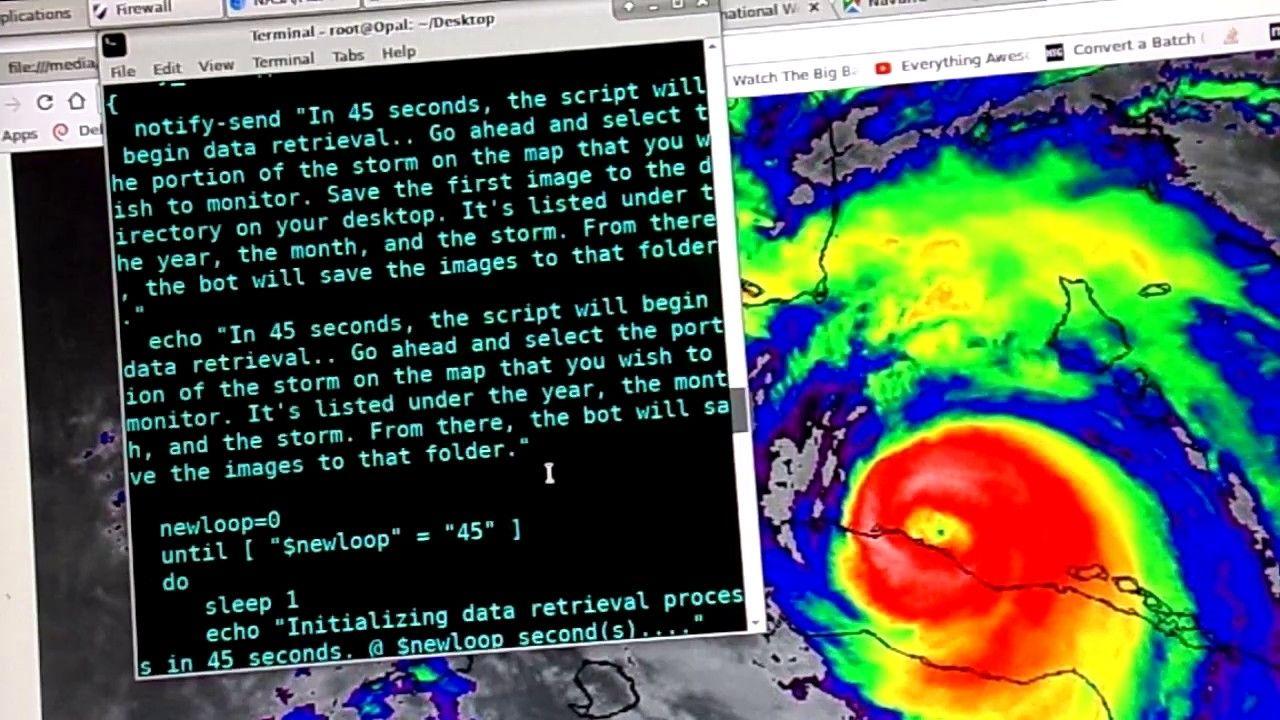 Satellite Imagery Retrieval Bot Works In Interval Downloads Satellite Image Satellites Hurricane Season