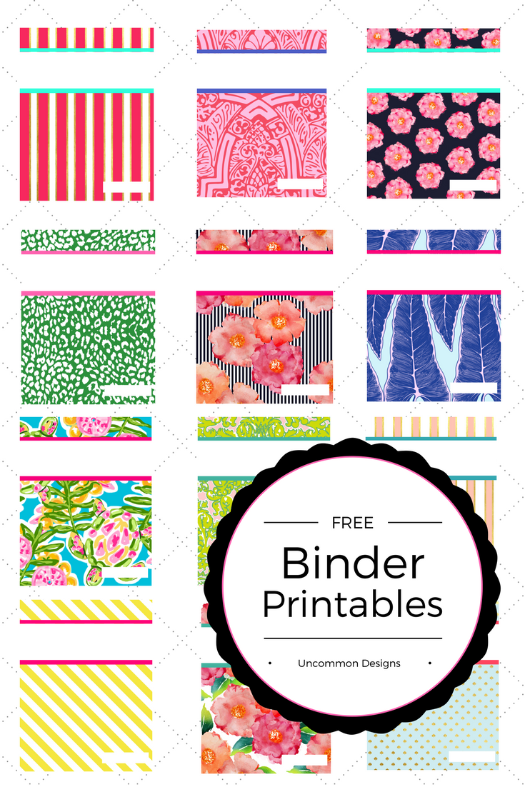 graphic relating to Free Binder Printables called 12 Preppy Absolutely free Printable Binder Handles + Least complicated Do-it-yourself BOARD +