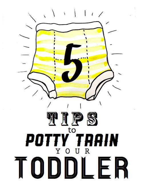 5 tips to potty train