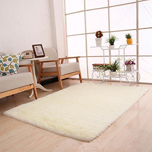 Elaco 80x120cm Fluffy Rugs NonSlip Soft Shaggy Area Rug Dining Room Home  Bedroom Carpet Floor Mat