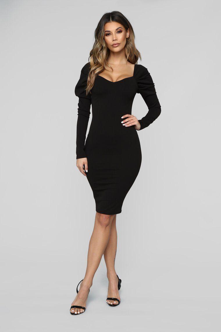 7207164bc202 Dinner Party Off Shoulder Midi Dress - Black in 2019