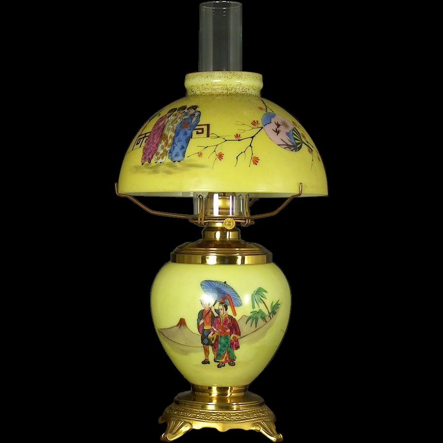 American aesthetic novelty mikado oil table lamp in original american aesthetic novelty mikado oil table lamp in original condition probably bradley and hubbard meriden connecticut circa1885 1886 aloadofball Choice Image