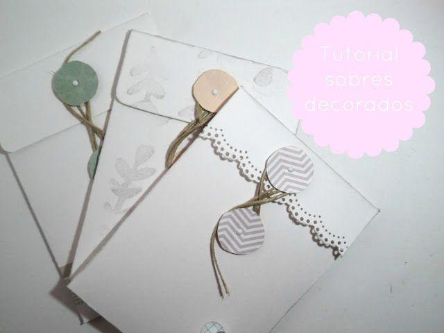 scrapbooking rules: Tutorial sobres decorados
