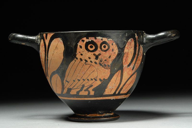 Image Detail For Ancient Greek Red Figure Pottery Apulian Owl
