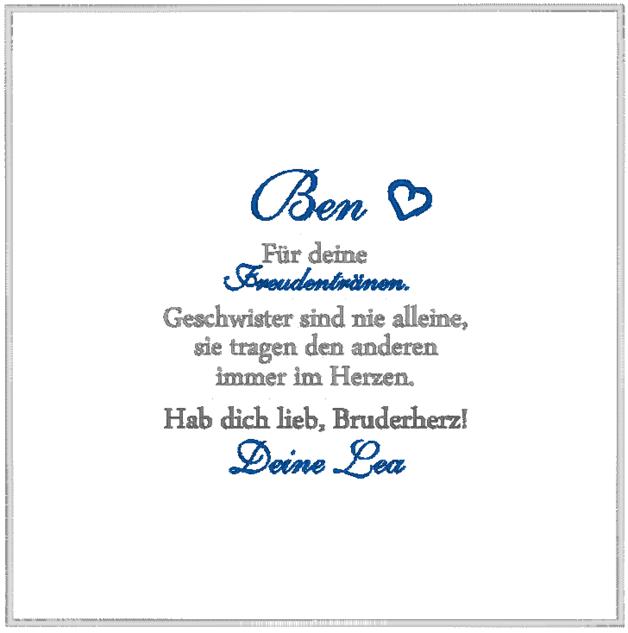 - HOCHZEIT ♥ Besticktes Taschentuch ♥ Freudentränen - ein Designerstück von Dein-Hochzeitstuch bei DaWanda