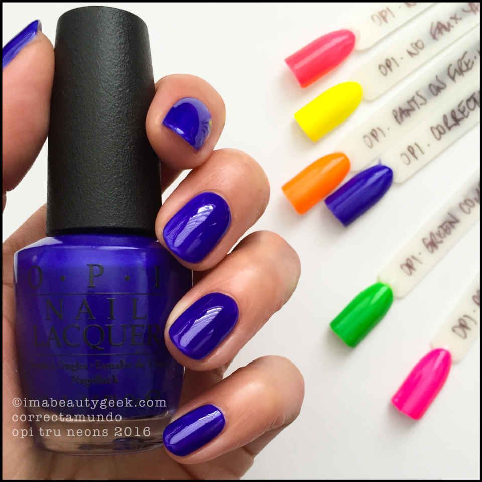 OPI NEONS 2016 SWATCHES & REVIEW   OPI, Neon and Swatch