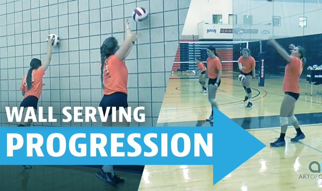 Wall Serving Progression Youth Volleyball Coaching Volleyball Volleyball Workouts