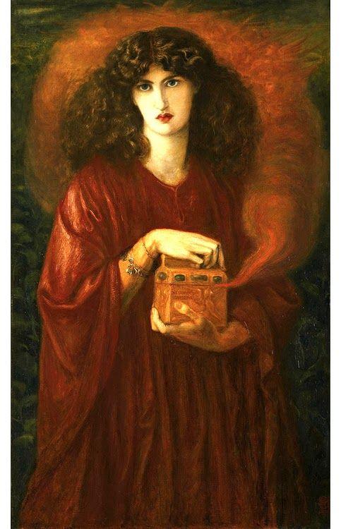 Pre Raphaelite Art Dante Gabriel Rossetti Pandora 1871 Pre