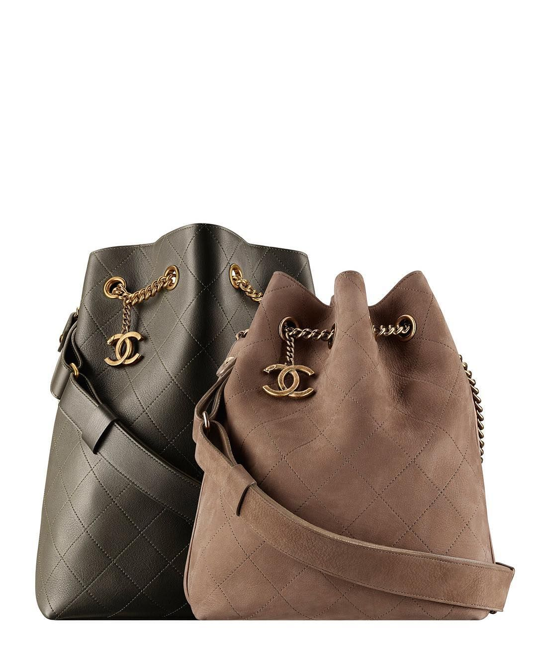 eb7ccfacf04a 2016 newest collection Chanel ultra solf smooth calfskin leather bucket bag  and suede drawstring bag