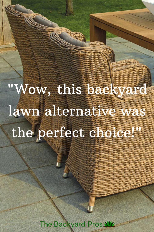 Grassless Backyard Lawn Alternatives in 2020 | Lawn ...