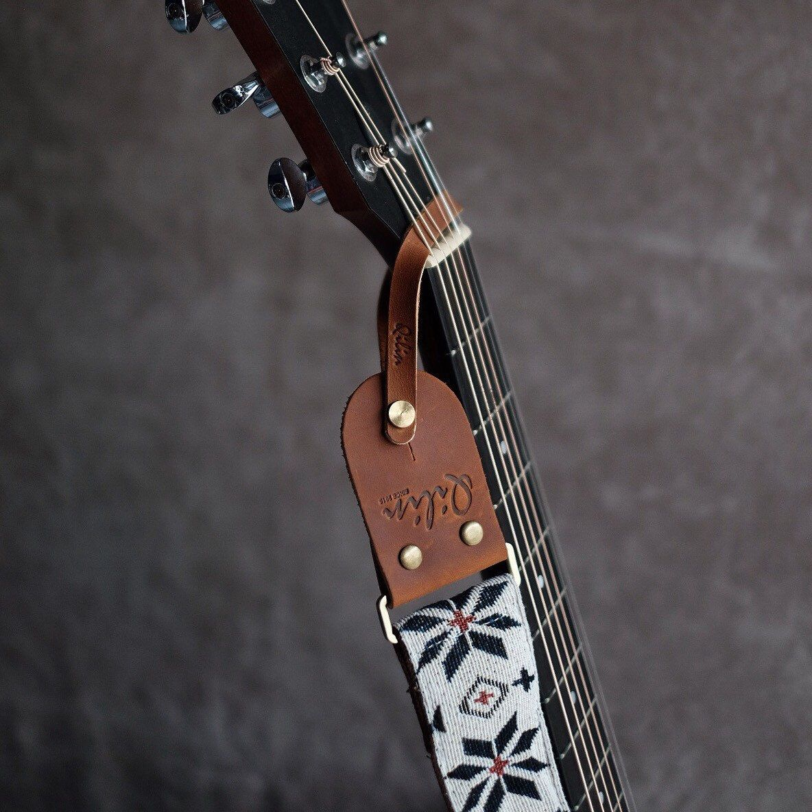 Head Stock Leather For Acoustic Guitar Qilin Guitar Guitar Strap Leather