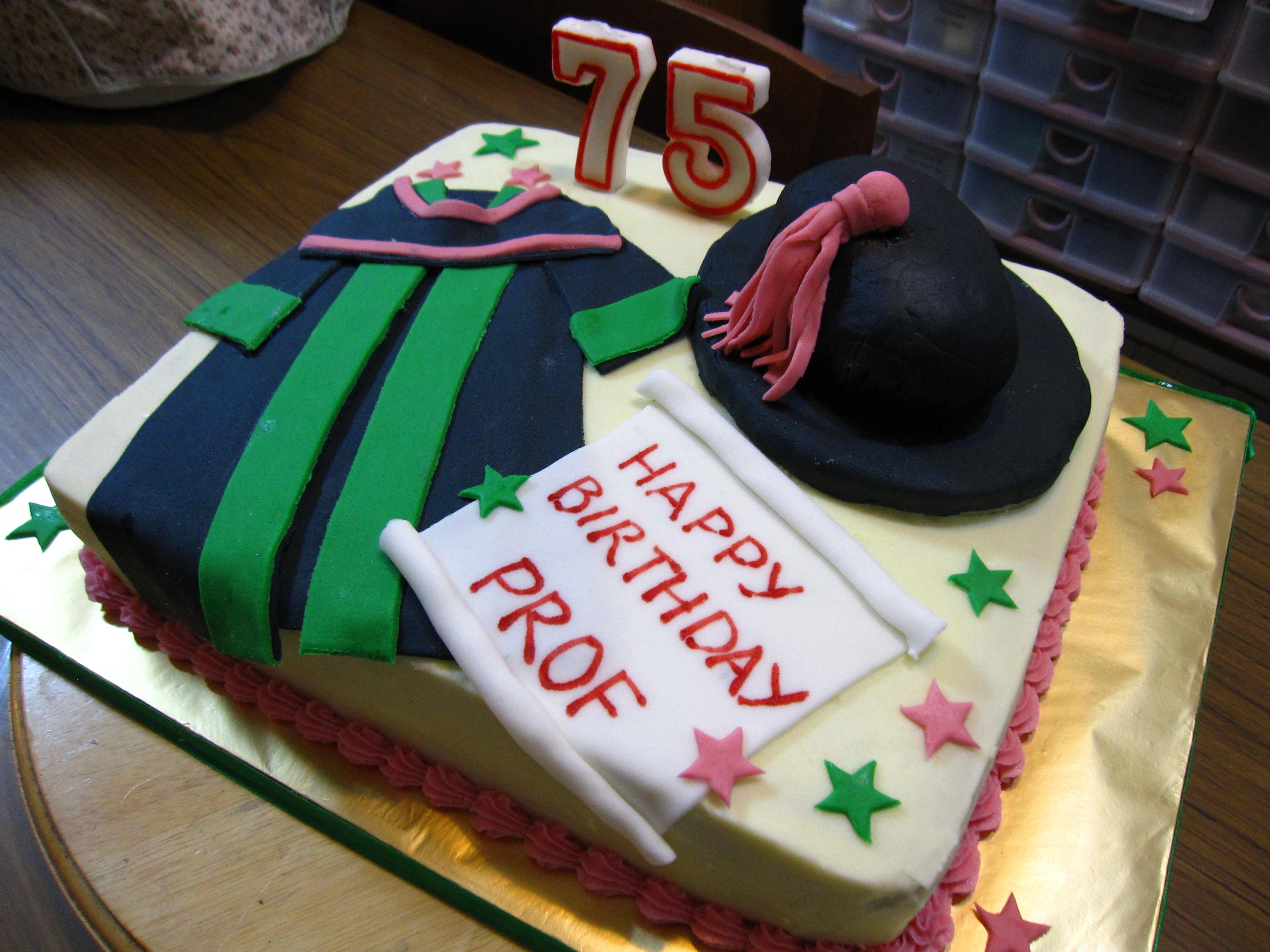 Professor Emeritus Birthday Cake