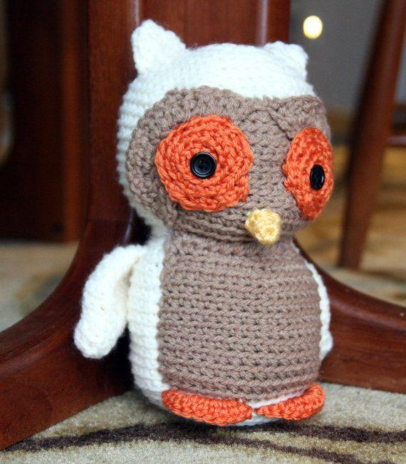 Handmade Crochet Snowy Owl