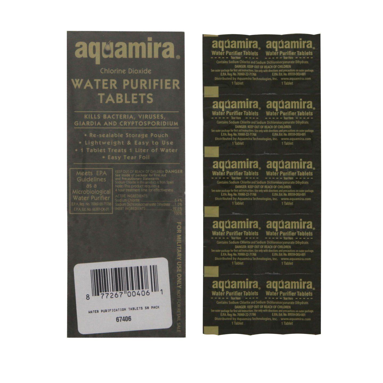 Aquamira Water Purifier Tablets Water Purification Tablets Aquamira Water Purifier