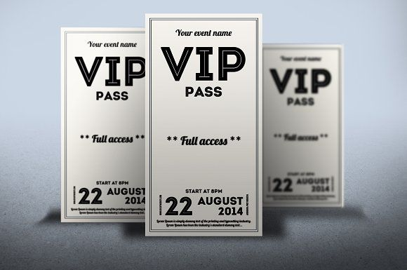 clean retro style vip pass card creativework247 cards pinterest