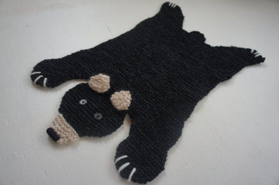 Crochet Bear Skin Rug, love the pattern