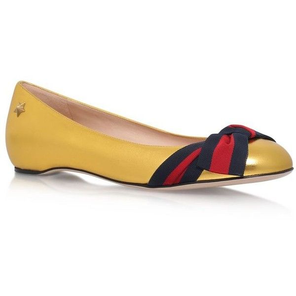 a1b5555b846 Gucci Aline Bow Ballerina Flats ( 540) ❤ liked on Polyvore featuring shoes