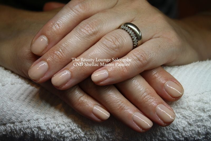 CND Shellac nails in Powder My Nose. Nude. Neutral. #salcombe ...