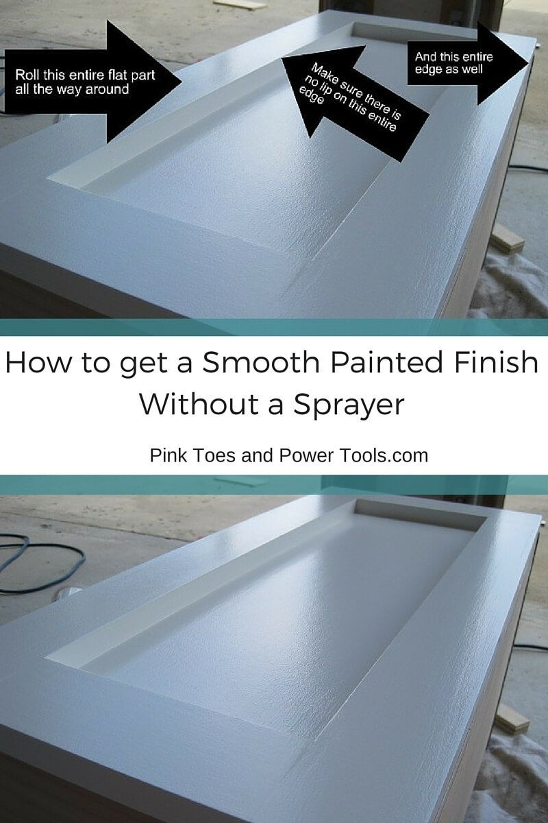 how to get a smooth finish when painting cabinets