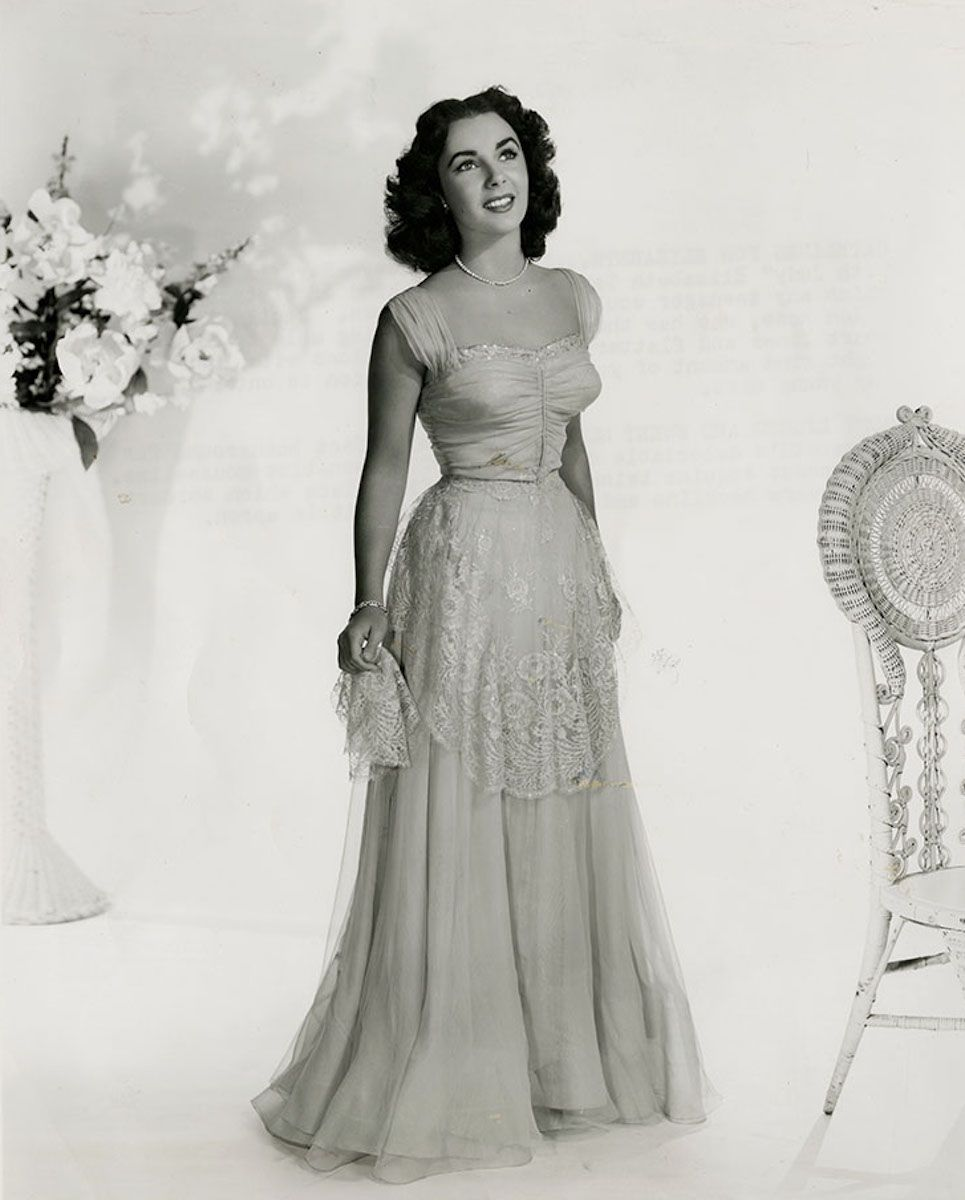 """16-year Old Elizabeth Taylor In Helen Rose Fashions For """"A"""