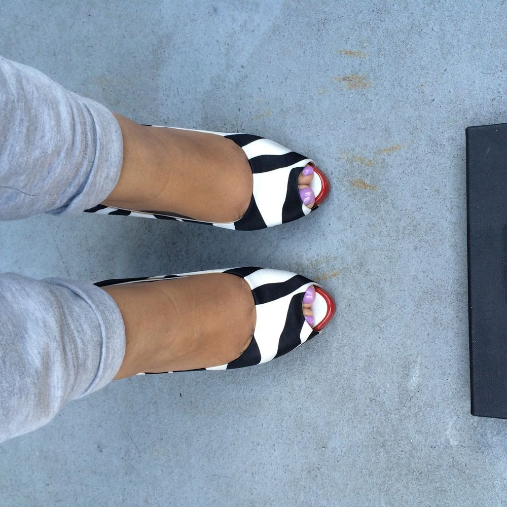 NEW! Giuseppe Zanotti Peep Toe Platform Pumps Red Black White Size 7.5 #GiuseppeZanotti #PumpsClassics