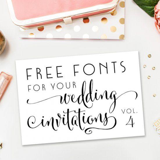 Free Fonts For DIY Wedding Invitations - Volume 4