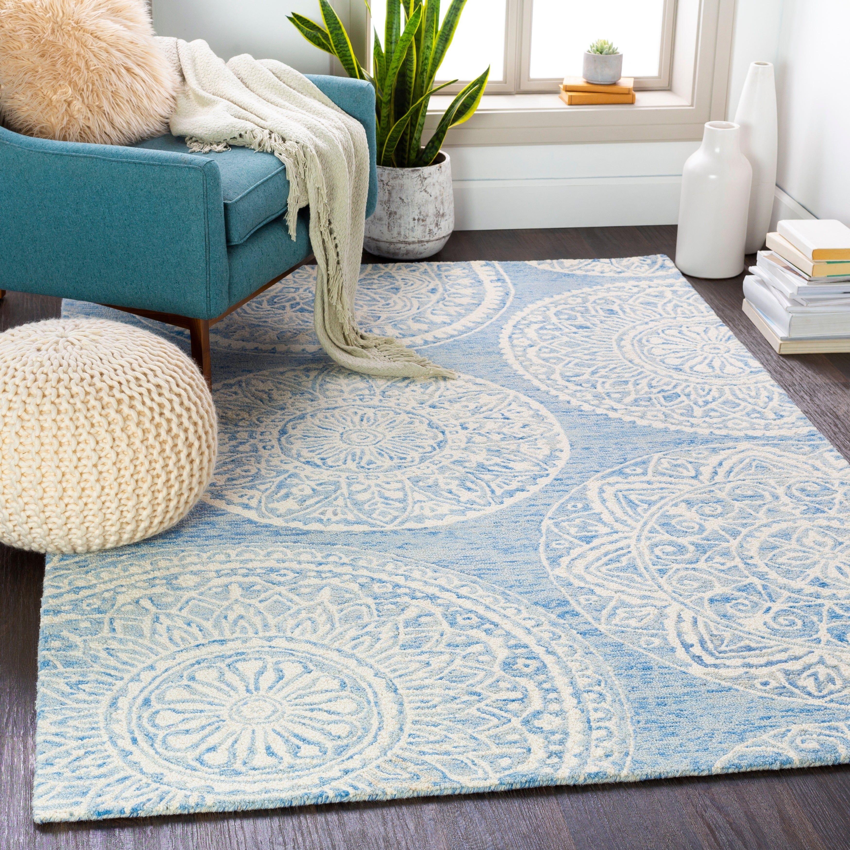 Pauleen Handmade Transitional Wool Area Rug Taupe 6 X 9