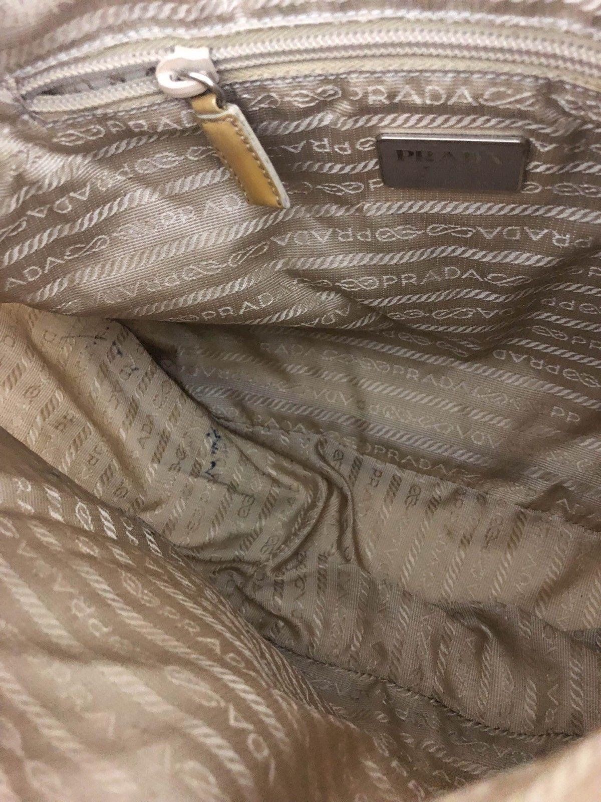 076a8287363b Prada Nylon Black Bag Leather Straps White Stitching Silver Buckles Clasps  Ziper  84.0  prada
