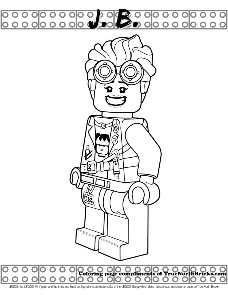 J B Coloring Page From Lego Hidden Side True North Bricks In 2020 Lego Coloring Pages Coloring Pages Lego Coloring