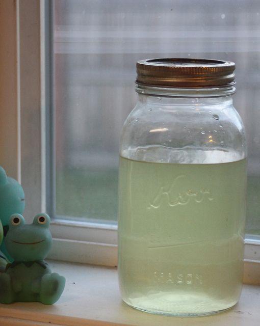 Lemon verbena liqueur by mtkatiecakes, via Flickr