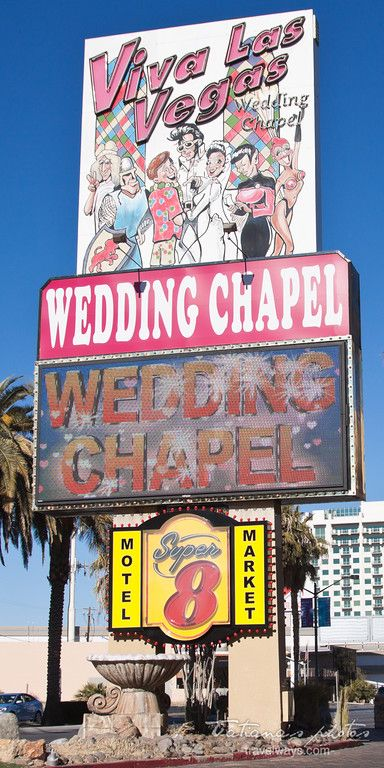 Viva Las Vegas Wedding Chapel Sign Downtown Las Vegas