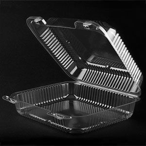 Durable Packaging Pxt 880 8 X 8 X 3 Clear Hinged Lid Plastic Container 125 Pack Bake Sale Packaging Bake Sale Cake Slice Packaging