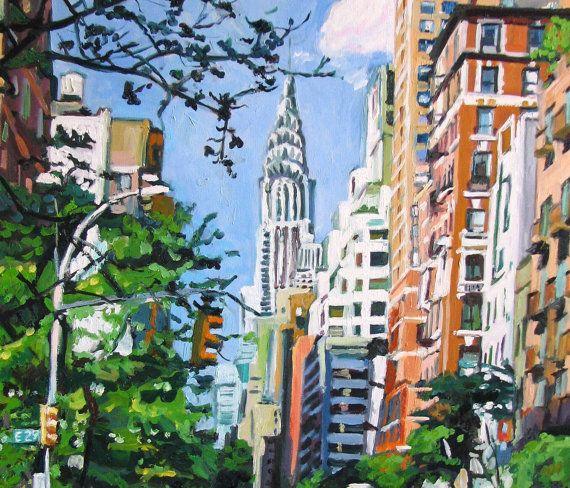 Chrysler Building New York Wall Art Eastside Painting Iconic