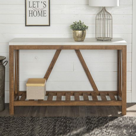 Manor Park Modern Farmhouse Accent And Entryway Table Multiple Finishes Marble Walnut Oak Console Table Marble Console Table Oak Consoles