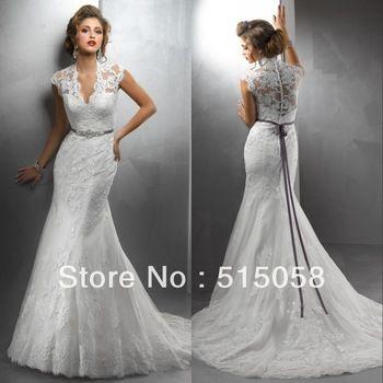 Elegant Wedding Dress with a Train