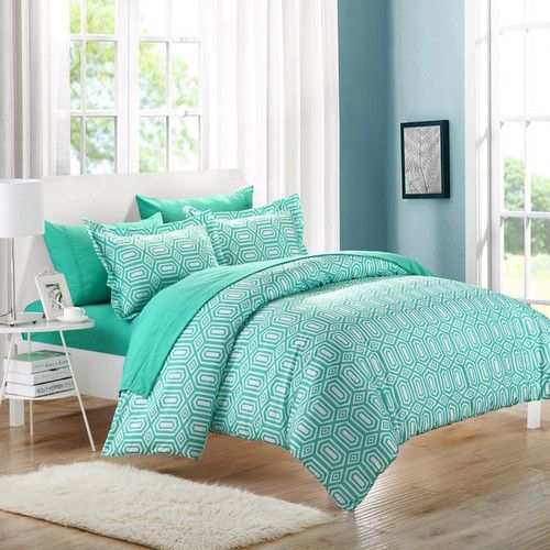 Chic Home Tina Printed Contemporary 7 Piece Duvet Cover