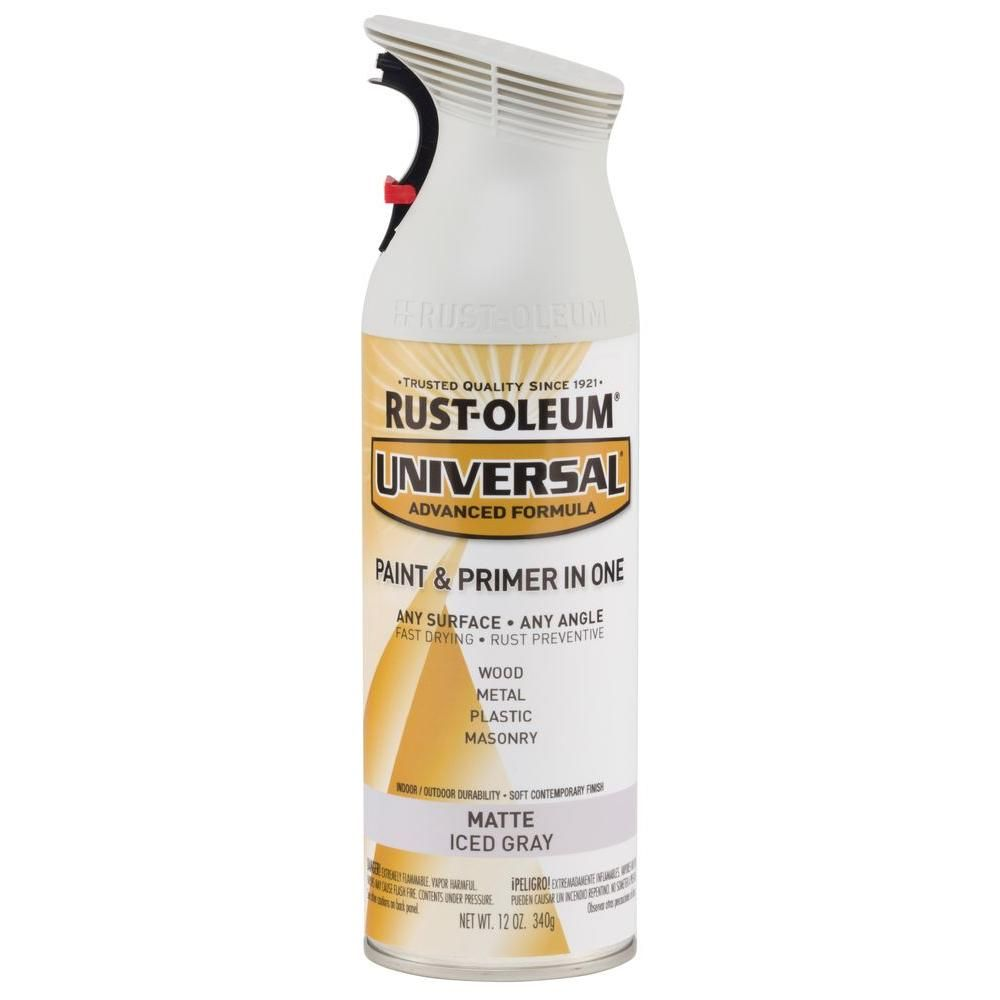Rust-Oleum Universal 12 oz. All Surface Matte Iced Gray Spray ...