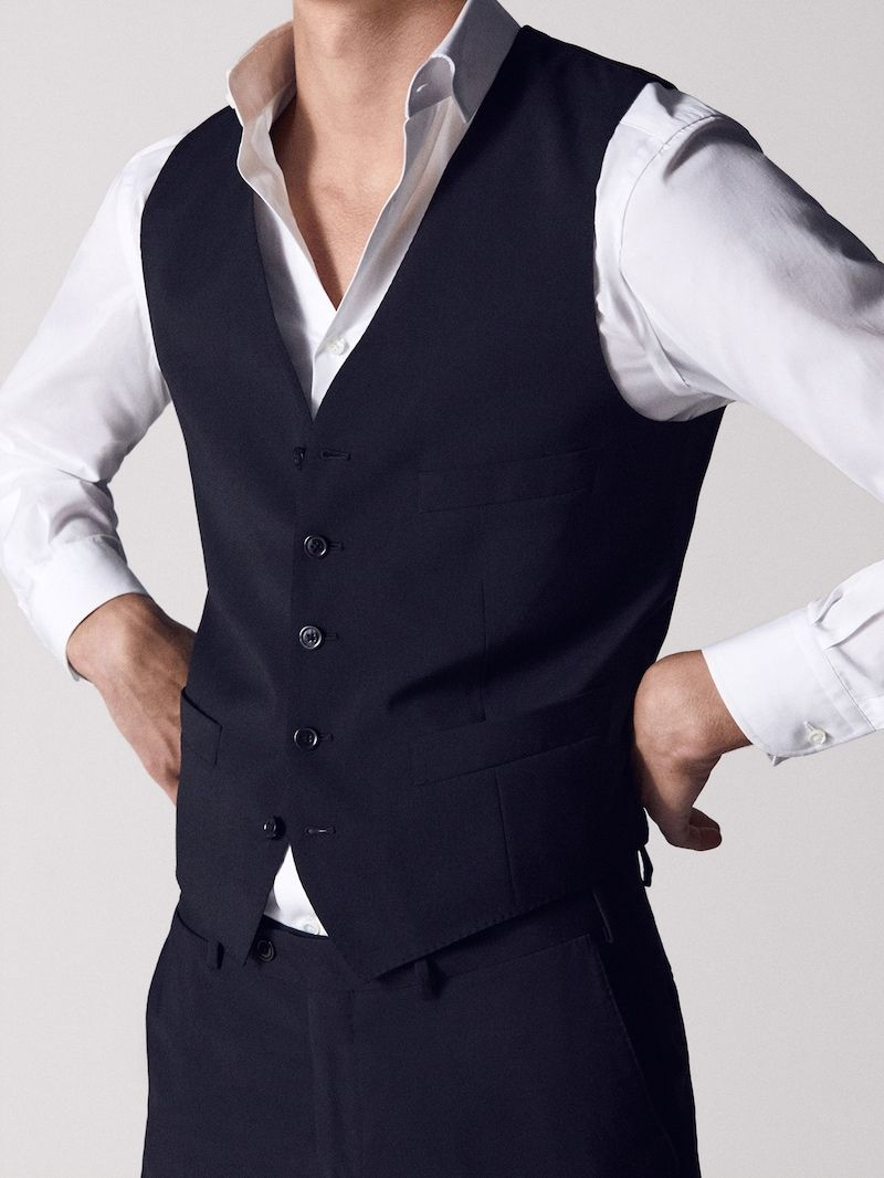 Trajes De Hombre Massimo Dutti Rebajas Invierno Mens Suits Suits Wool Waistcoat