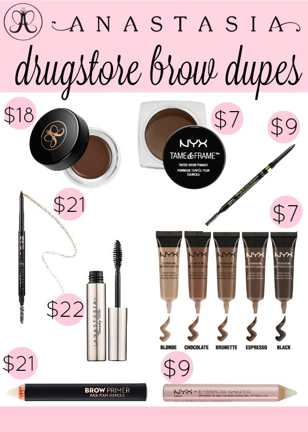 Anastasia Brow Drugstore Dupes Glam Budget Beauty Makeup Dupes
