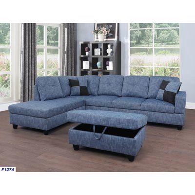 andover mills russ sectional upholstery light blue jeans rh pinterest com