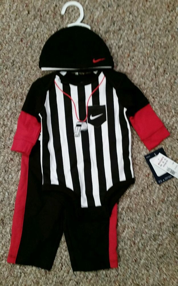 nwt 3-6 month  nike referee 3 piece basketball set onesie pants hat from   20.0 92013e78e62