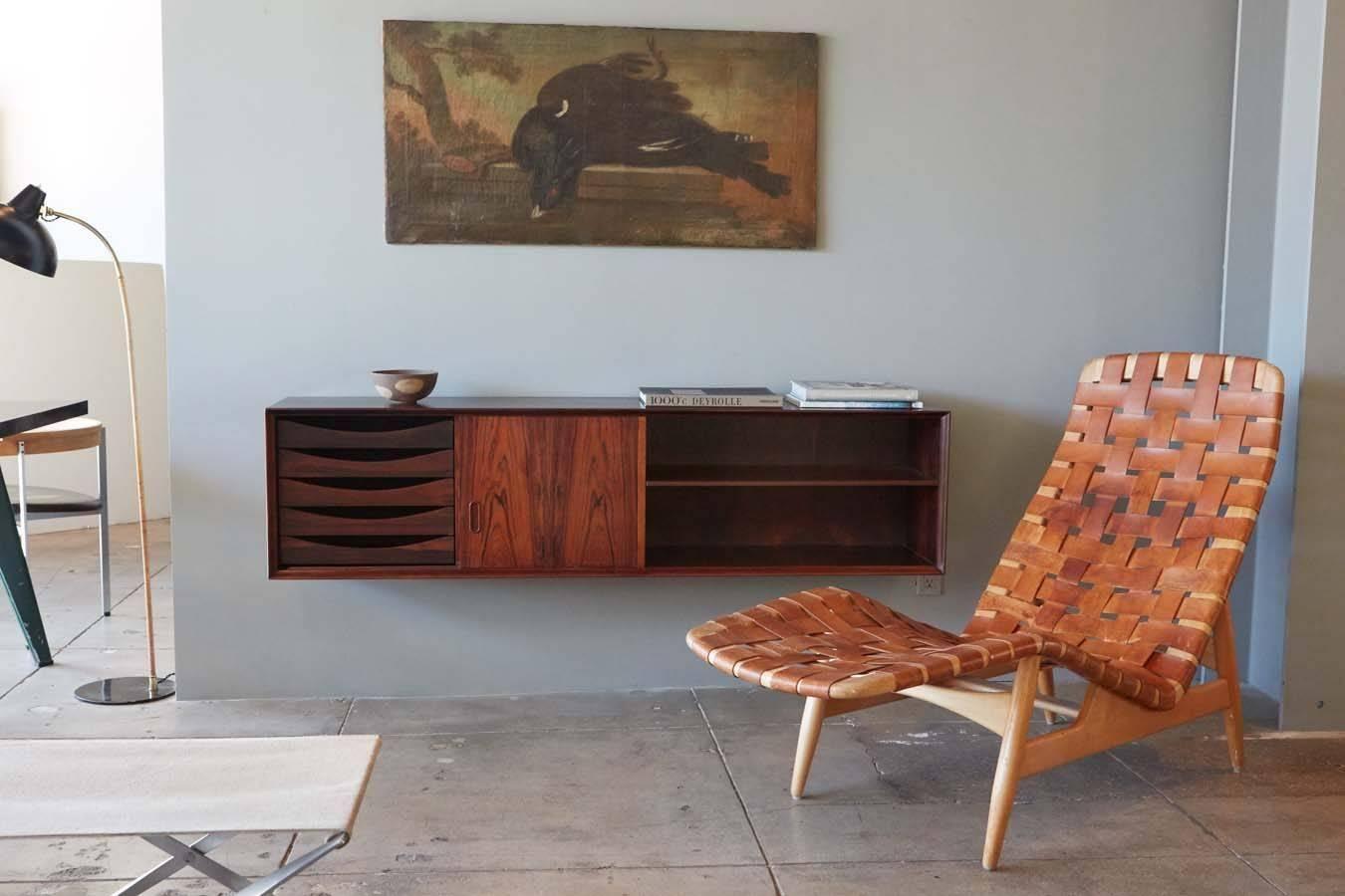 Arne Vodder Leather Strap Chaise, Denmark, 1952 2