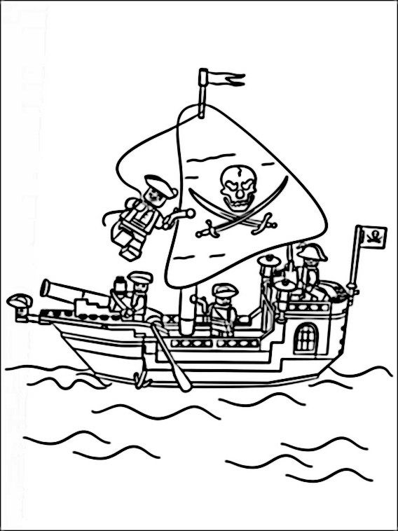 Lego Pirates Coloring Pages 3 | Coloring pages for kids | Pinterest