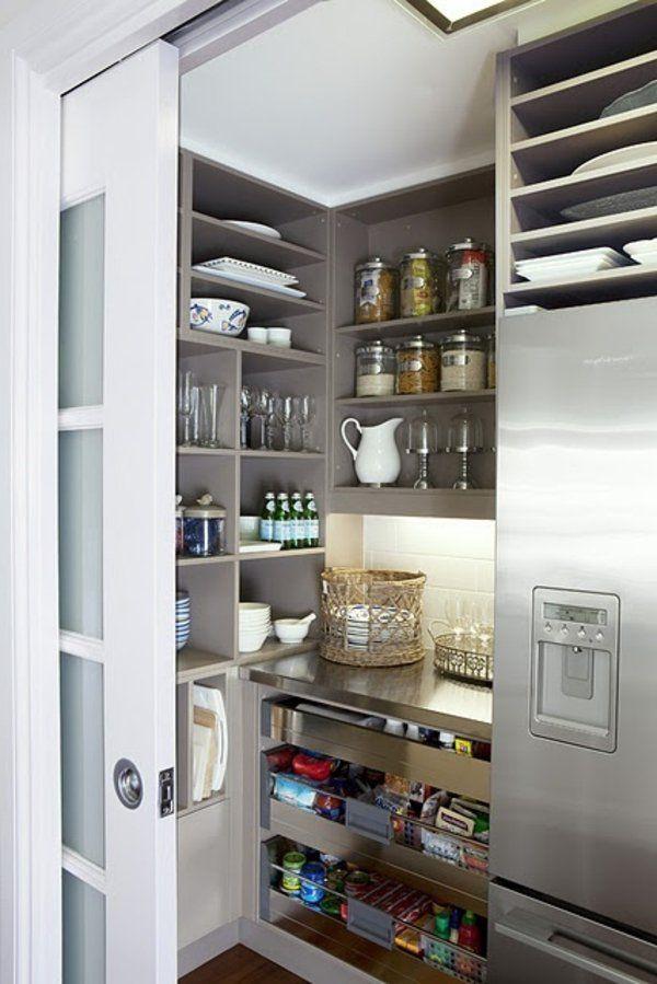 Vorratskammer Regale organisieren speisekammer regale teller idee küche kitchen