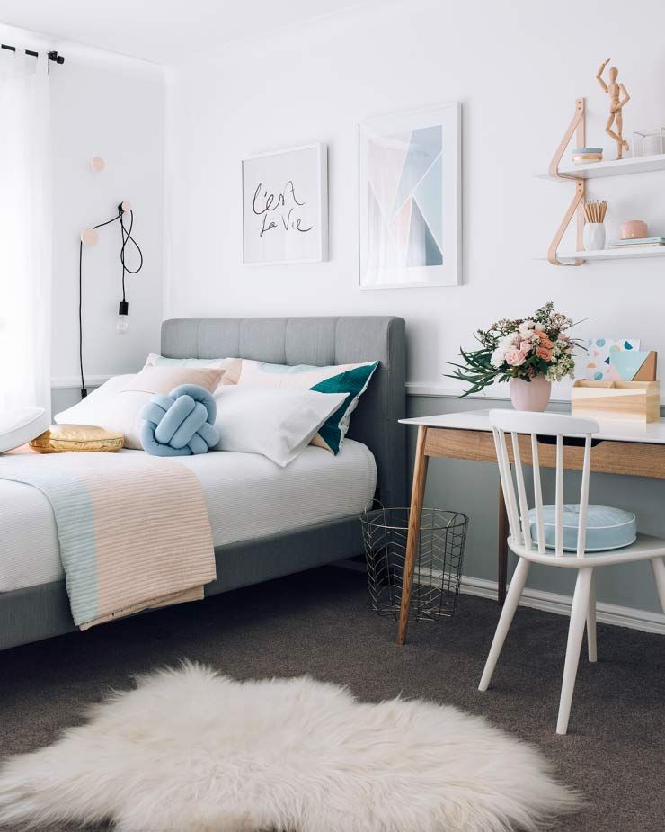 Cute & Stylish Teenage Girl Bedroom Ideas & Room Decor • OhMeOhMy Blog