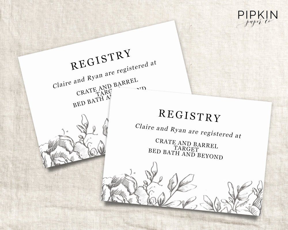 Wedding Registry Card Template Unique Gift Registery Card Template Printable Wedding Registry Best For Wedding Registry Cards Registry Cards Wedding Info Card